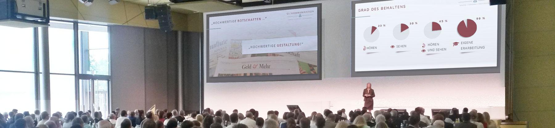 Keynote Vortrag vor Publikum